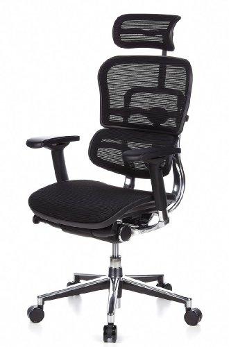 Ergohuman Bürostuhl mit Netz-Stoff, schwarz - 15