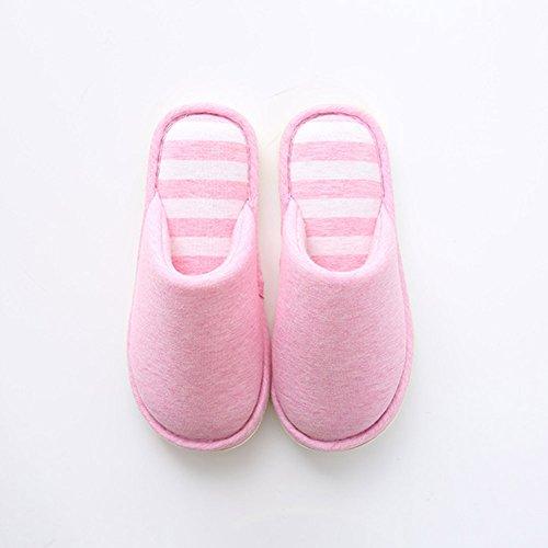 Pink2 Chaussures et d'hiver Chaussons Femmes Chaud Anti Hommes Tongs Chaussures Plat Derapant Pantoufles R7pqx7U