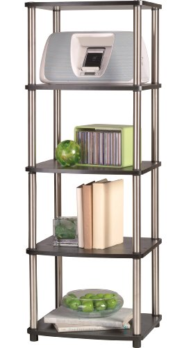 Convenience Concepts Designs2Go X-Tra Storage 5-Tier Media Tower, Black