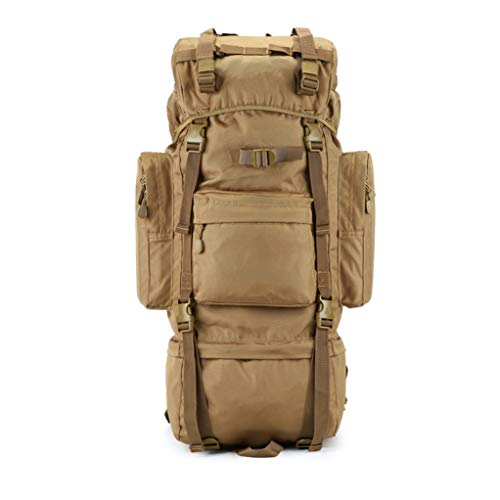 Hiking BackPack Coco Professional Outdoor, Anti-Pressure Inner Frame, Waterproof Sand-Proof Mountain or Jungle Adventure Travel Leisure Backpack (Color : Khaki, Size : 100L)