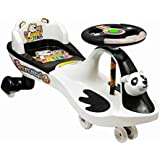 Goyal's Free Wheel Musical Panda Magic Car with Back Rest - (Black & White)