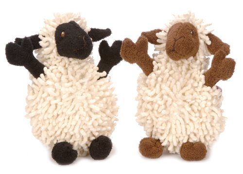 goDog Fuzzy Wuzzies 770655 Lamb Assortment Plush Dog Toy, My Pet Supplies