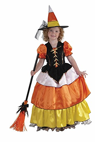 Forum Novelties Little Designer Collection Candy Corn Witch Child Costume, (Freaky Halloween Costumes For Men)