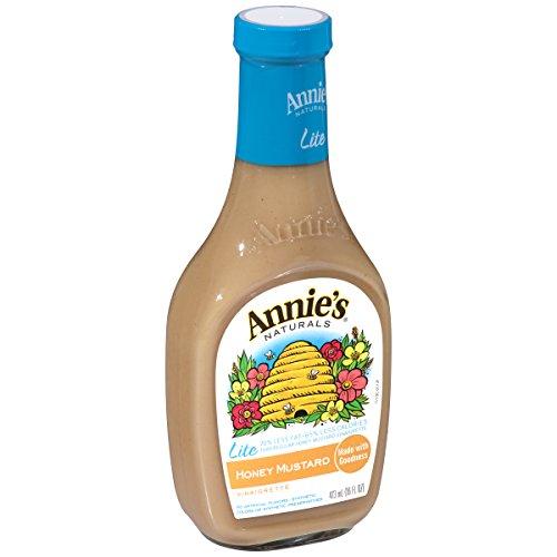 Annie's Lite Gluten Free Honey Mustard Vinaigrette Dressing 16 fl oz Bottle