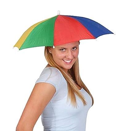 sombrero de la cabeza del paraguas