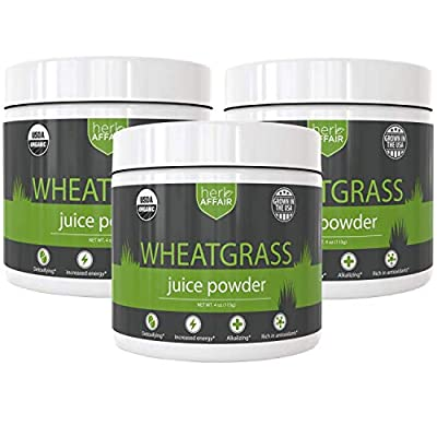 Organic Wheatgrass Juice Powder - Sustainably Grown, Non-GMO Superfood - Mixes & Dissolves Easily in Water - Wheat Grass is Rich in Chlorophyll & Amino Acids
