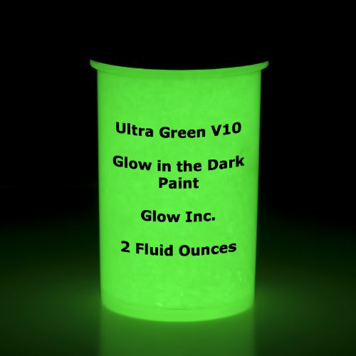 Ultra Green V10 Glow in the Dark Paint 2Oz -