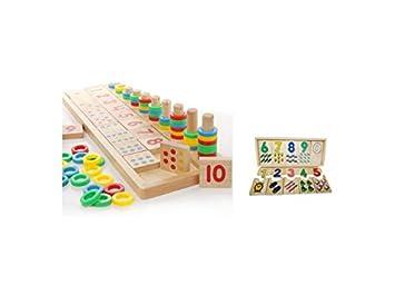 52b49683aac7a5 Amazon | 木の数遊び 子供 幼児 教育 おもちゃ/知育玩具 セット品 ...