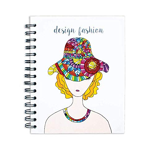 MAWI DISEÑO-NOTEBOOK COLLAGE WOMAN WITH HAT from Lindo y Querido México