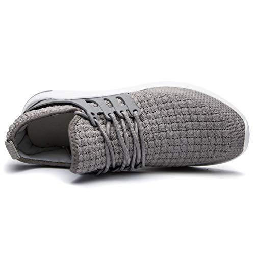 1 grigio Uomo Scarpe Fitness zhenghewyh Traspirante Sneakers Running Sport TC0a8