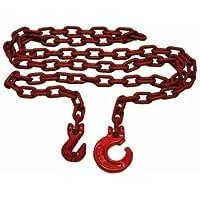 3m bos- en rugketting vierkant 8 mm met sling- en parallelhaak, graad 80, chokerketting