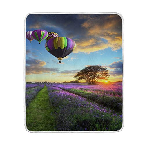 - Home Decor Hot Air Balloon Blanket Soft Warm Blankets for Bed Couch Sofa Lightweight Travelling Camping 60 x 50 Inch Throw Size for Kids Boys Women