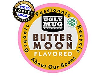 Ugly Mug Coffee Signature Organic Flavored Single Serve UGLY CUPS (Keurig Compatible) | Buttermoon, 96 Pack