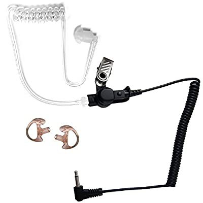 2.5mm Police Listen Only Acoustic Tube Earpiece with Earmolds for Speaker Mics by The Comm Guys by The Comm Guys