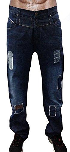 Newfacelook Men's Designer jeans Casual Denim Mens Pant Fashion Trousers W34-L34