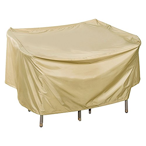 Sundale Outdoor Heavy Duty Cover for Patio Wicker Bar Set Cover with PVC Coating Waterproof, fit up to 46L x 46W x 28H inches, Beige