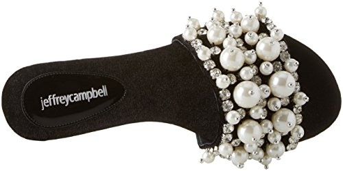 facil Campbell Noir Femme BP Velvet Black Jeffrey Ouvert Bout Sandales 11 001 Eaxqfwd