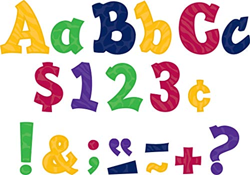 Teacher Created Resources Multicolor Sassy Animal 3-Inch Sassy Font Letters
