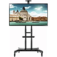 NORTHBAYOU CA70 Multi-Functional Mobile TV Cart for 50 - 80 LED LCD Flat Panel Screen TVs up to 200 lbs (50 to 80)