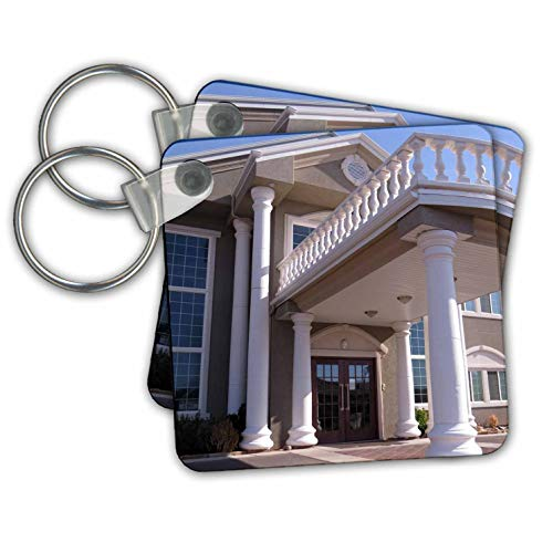 Jos Fauxtographee- Rehab Building - A rehab building in St. George Utah where people go to get well - Key Chains - set of 2 Key Chains (kc_307563_1)