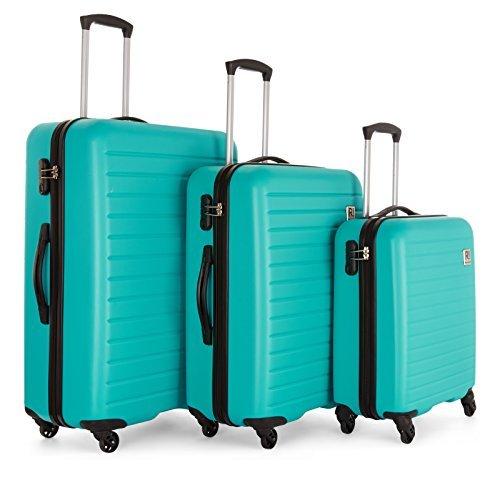 Revelation! Dominica 3-Piece Expandable Upright Hardside Spinner Luggage Set: 31', 27', and 22'...