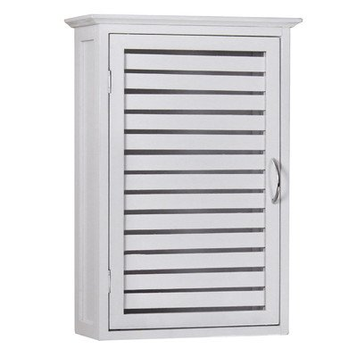 Gallerie Décor 20010-WH Natural Spa Bamboo Wall Cabinet, One Size, White