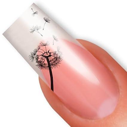 Uñas de las uñas tatuaje etiqueta - SET Spar - - Colour negro ...