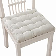 Dining Outdoor Office Kitchen Garden Chair Warm Seat Pad Upholstery Tie Cushions (white)