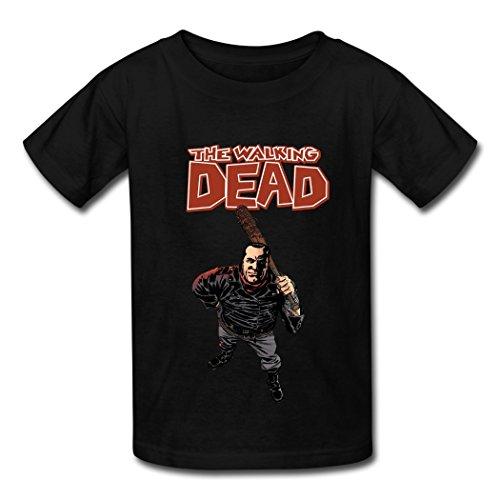 the walking dead negan t shirt for kids black deadicated fans. Black Bedroom Furniture Sets. Home Design Ideas