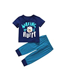 DKmagic Toddler Baby Long Sleeve Cartoon Penguin Tops+Pants Pajamas Sleepwear Outfits