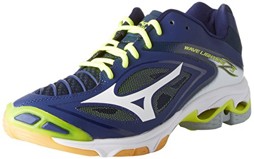 Mizuno Herren Wave Lightning Z3 Volleyballschuhe Mehrfarbig (Bluedepths/white/safetyyellow)