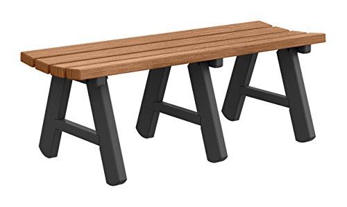 Ashland Backless Bench - Premium Wood Grain - 4 Foot - Teak 4' Backless Teak Bench