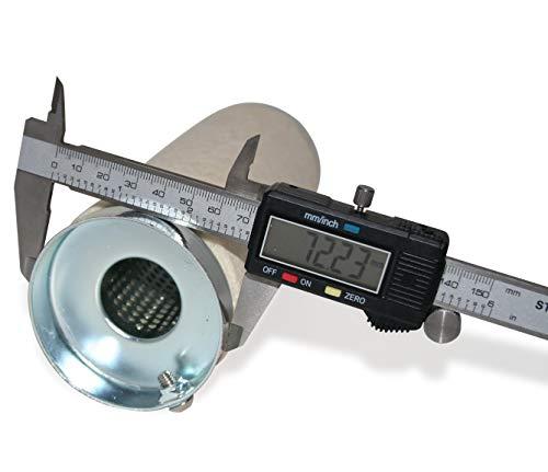 KUSTOM66 TH010093 dB-Killer 73 mm x 207 mm universele dB-eater voor uitlaat van 3 inch