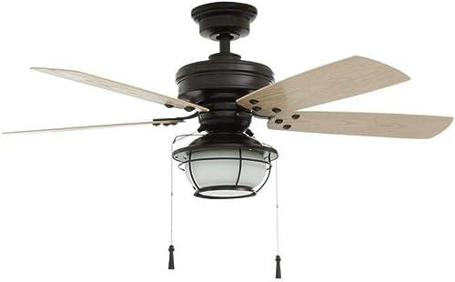 Hampton Bay 51546 North Shoreline 46 in. LED Indoor/Outdoor Natural Iron Ceiling Fan