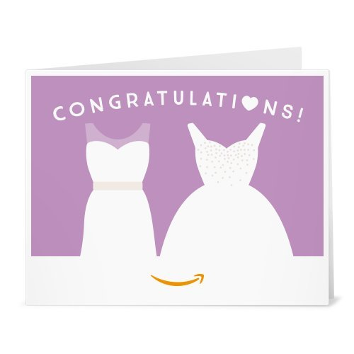 Two wedding dresses print at home gift card link image