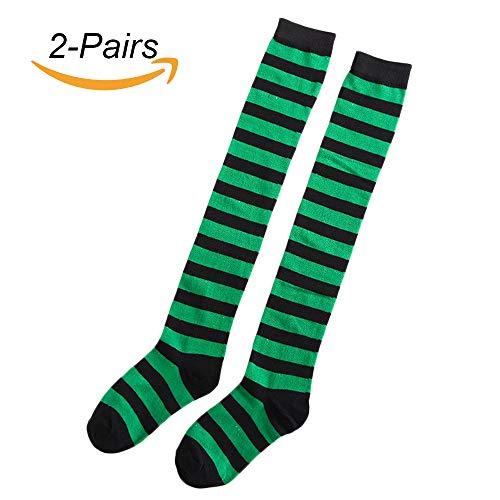 Lulutus Women's Long Striped Thigh High Stocking Socks