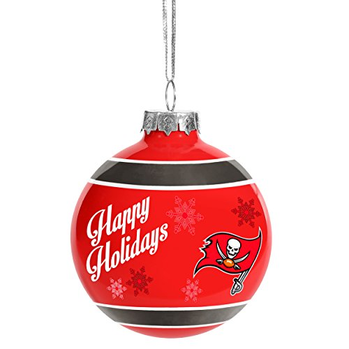 Buccaneers Ornaments Tampa Glass Bay (Forever Collectibles 2016 Christmas Holiday Glass Ball Ornament - Tampa Bay Buccaneers)
