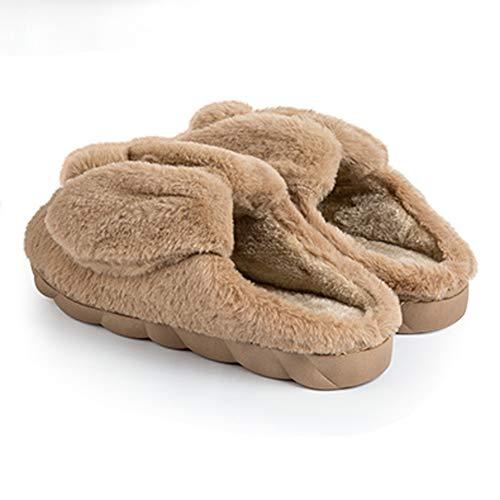 Xhche Piano Le Pantofole Domestico Caldo Inverno Caffè Ragazze Delle Carino Cotone Per Donne Peluche Coniglio Casa XwX7rdHq
