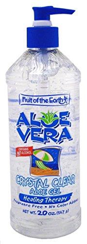 Fruit Of The Earth Crystal Clear Aloe Vera Gel 20 Ounce
