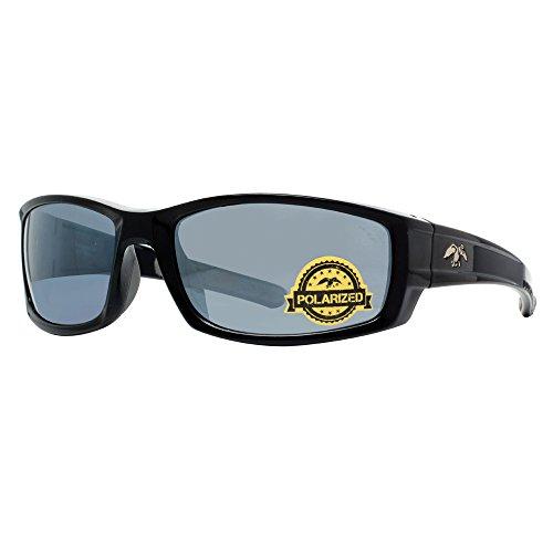 duck commander Men's D857 BLK Mirrored Polarized Sunglasses, Shiny - Duck Commander Sunglasses