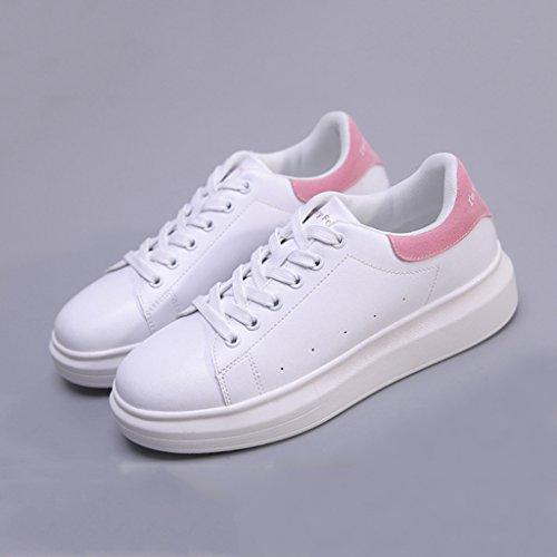 Chaussures Femmes Chaussures Casual Lacets Respirant étudiants Chaussures pour de Fashion Sport Chaussures Planche à Pink de roulettes à Uq4v6w8a