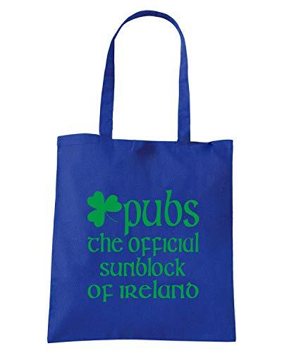 SUNBLOCK TIR0112 Royal IRISH Shopper Blu Borsa zpx0wgqq