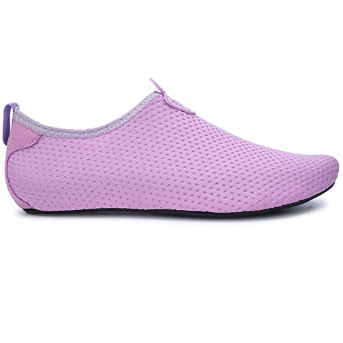 Swim Yoga para descalza Piel Zapatos Zapatos Unisex Agua Dive de Surf Run de Beach Púrpura Run L TZxqOO