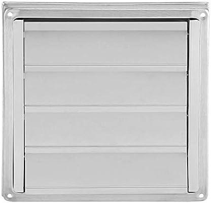 Rejillas de ventilación Bicaquu - Salida de ventilador extractor de secadora de aire de pared de acero inoxidable de 100 mm: Amazon.es: Bricolaje y herramientas