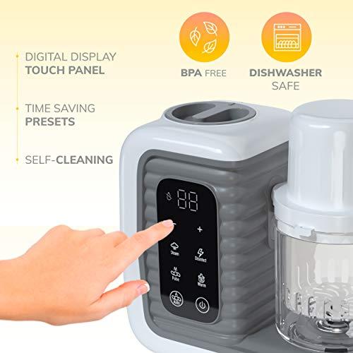 41hDXK2uhwL - Children Of Design 8 In 1 Smart Baby Food Maker & Processor, Steamer, Blender, Cooker, Masher, Puree, Formula & Bottle Warmer Prep System