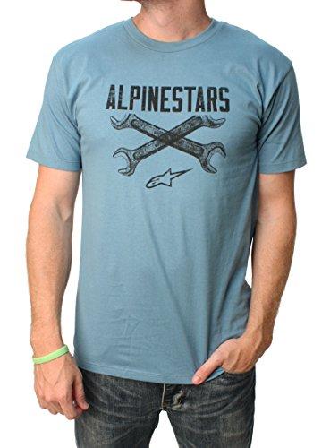 Alpinestars Men's Ratchet Tee, Slate Blue, (Alpinestars Tee)