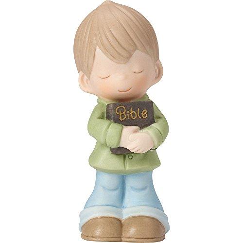 (Precious Moments 162021 Let His Words Guide You, Bisque Porcelain Figurine, Boy)