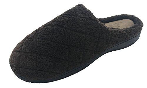 Finoceans Slippers House Womens/Mens Soft Coral Fleece Memory Foam Shoes Indoor/Outdoor