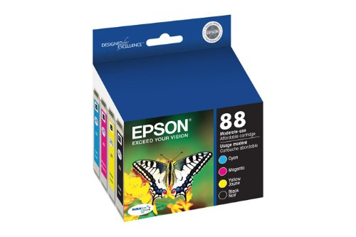 Epson T088120-BCS DURABrite Ultra Black and Color Combo Pack Moderate Capacity Cartridge Ink (Epson 88 Ink)