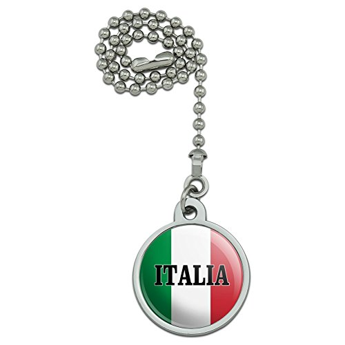 (GRAPHICS & MORE Italia Italy Italian Flag Ceiling Fan and Light Pull Chain)